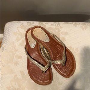 Gianni Bini gold sandals